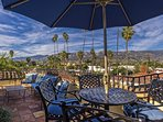 Few condos offer the luxury of a rooftop terrace with fireplace and 360 degree views of ocean, city, and mountains.