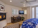 The Master Bedroom #1 has a private balcony with views and a gas fireplace.