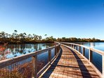 This community was built to compliment the natural surroundings of trees, wetlands and dunes.