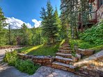 Feel that fresh mountain air as you ascend your stairs.