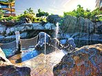 Watch your little ones splash around in the fountains at the Ohana pool.