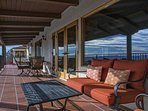 The upper deck is a nice place to relax and enjoy the ocean view.