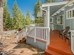 The front deck has plenty of space for your skis and boards.