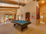 Play a game of cards, darts or billiards in your very own game room.