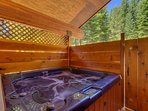 Get things off to a most relaxing start in the privacy of your hot tub.