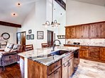 The wooden beams and tall ceilings make this a home away from home.