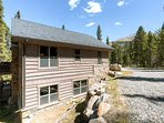 This brand new home is located in the forest of Blue River with mountain views and river sounds.