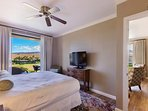 Master Bedroom #1 has direct access to the lanai, a king bed, and its own private bathroom.