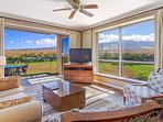 You may have a hard time watching the flatscreen TV when you've got panoramic mountain views like this.