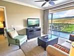 It's going to be hard to watch television when you have the breath-taking views of the mountains outside your lanai.