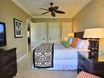 Sleep easy to the sounds of the waves in Master Bedroom #1.