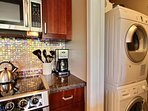 There's a washer and dryer in this condo, too, for your convenience.