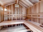 Enjoy a bit of time in the sauna - perfect after a day on the slopes.