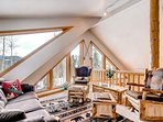 Take a load off in the loft area after a long day. You deserve it.