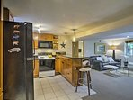 Whip up gourmet feasts in the fully equipped kitchen.