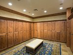A view of the men's locker room.