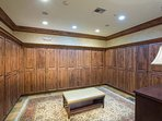 The ladies locker room is well-appointed and convenient for using the pool.