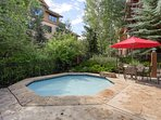 The hot tub at the clubhouse is a great place for a soak after a day on the slopes.