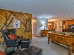 Settle in next to the ski-themed decor after a day on the slopes.