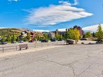 The Breckenridge Free Shuttle is located across the street from Cimarron on S. Park Ave.