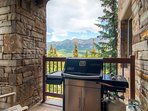 Grill up your specialty while you marvel at those mountains in the distance.