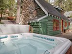There are no lifeguards on duty at Base Camp's two hot tubs.