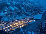 Take the gondola to the midway station and see the town from Mountain Village.