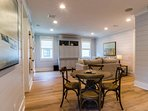 The second floor Family Room also offers a seating area perfect for enjoying snacks or a card game.