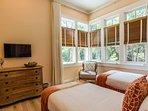 Corner windows provide plenty of natural light