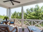 Listen to the birds or enjoy your morning coffee on the master balcony.