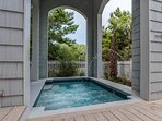 Your only neighbors will be the trees when you're soaking in your private pool.