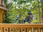 From the balcony, take in the aspens and spruce trees that surround the lodge