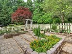 Find your favorite flower in the backyard garden.