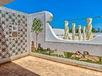 Companion panel by summerhouse, hand painted ceramic tiles, about 3000 all over Quinta Velha