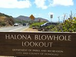Within a couple of miles from Halona Blowhole.