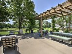 Keep an eye out for deer while you lounge on the pergola-covered patio.