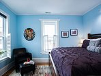 Master bedroom with king includes views of downtown Black Mounta