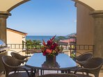 Private terrace with ocean and sunset views, BBQ
