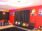 Mickey Mouse Living Room with their portrait poster