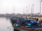 Boats on the port of Sarafovo