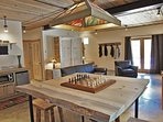 Game or Dining Table in the lower level