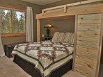 Bedroom 3 has a Twin over Queen Bed, Shared Bathroom