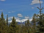 Rocky Mountain National Park peaks from the upper deck