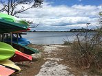 Plop your kayak in at the Salt Pond. This is a private beach for residents and their visitors.