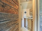 Enjoy a cleansing shower in the full bathroom after a day outdoors.