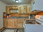 Beautiful cabinetry is warm and inviting.