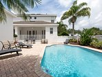 Enjoy your very own large private pool with this corner lot luxury Reunion Villa