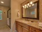 Master Bathroom (3rd floor, private to master bedroom) with walk in shower & jetted tub