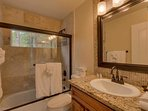 The Jack and Jill bathroom on the 3rd floor is shared by all 3rd floor bedrooms except the master