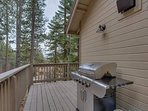 The Glen Eagles Manor is a great place for summer BBQs, and is equipped with a gas grill